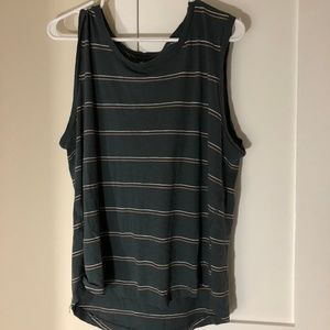 Madewell Blue Striped Tank - Size XL